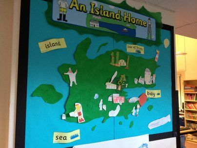 An Island Home Map Display, classroom Display, book, geography, similarities and differences,Island, Early Years (EYFS),KS1&KS2 Primary Teaching Resources