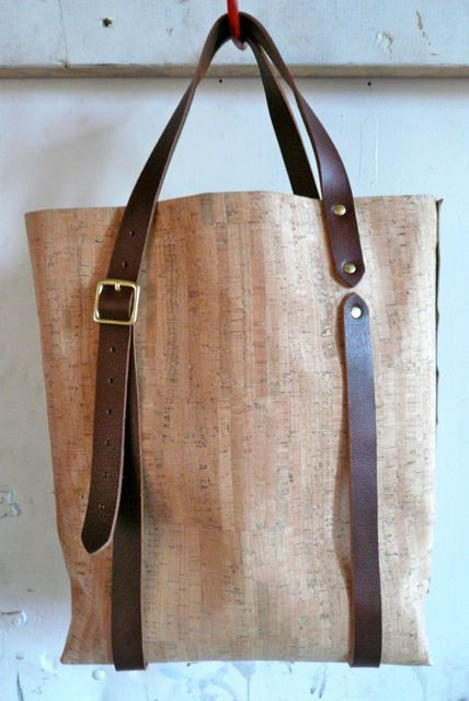 This bag is made from a beautiful lightweight cork material. Who knew?