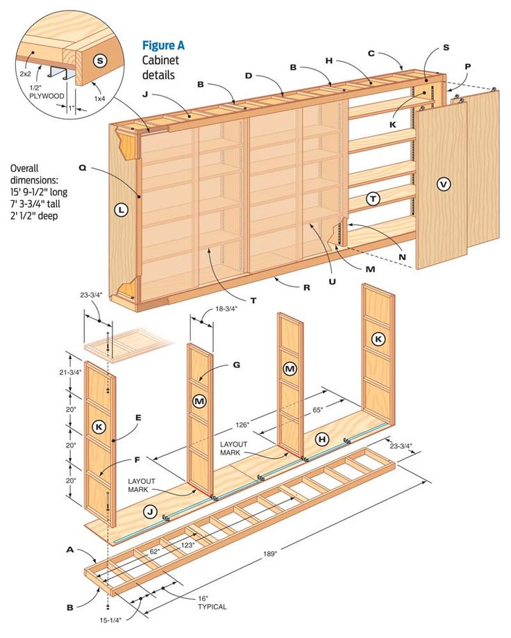 Kitchen Wall Cabinet Plans: Giant DIY Garage Cabinet