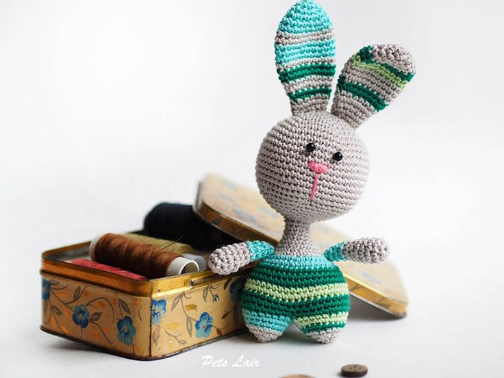 This toy rabbit a good idea for decorating Easter baskets, Rabbit is perfectly placed in the pocket of outer clothing, and he will be your friend when traveling or walking,  Easter Bunny, Easter...