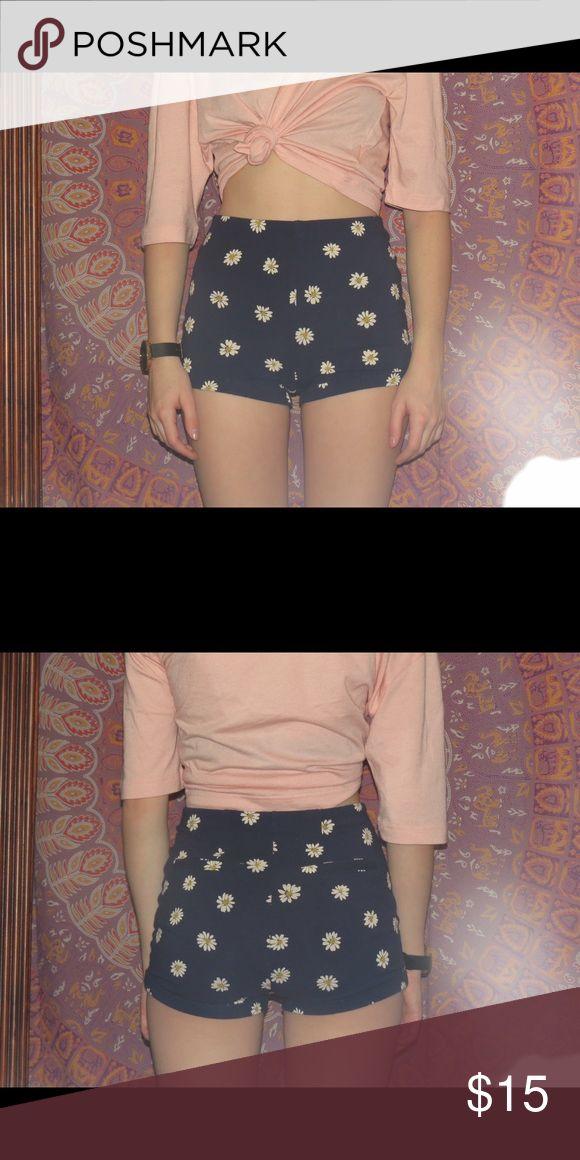 Daisy shorts! Forever 21 daisy shorts! navy blue, soft fabric shorts Forever 21 Shorts