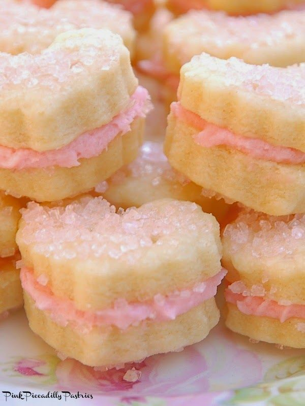 Pink Piccadilly Pastries: Sparkling Raspberry Cream Wafers