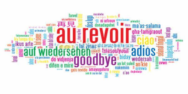 Au revoir Adieu et Bonne continuation