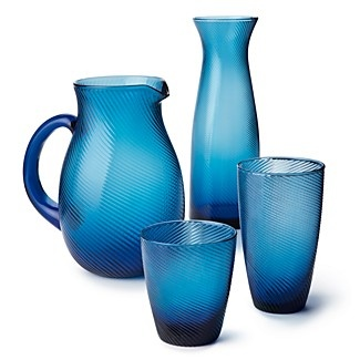 DIANE von FURSTENBERG Twirl Barware, Cobalt