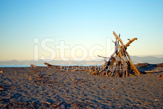 Dusk on Motueka Spit, Tasman, New Zealand royalty-free stock photo