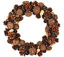 "ED On Air Natural Rustic 17"" Pinceone Wreath by Ellen DeGeneres - H206258 — QVC.com"