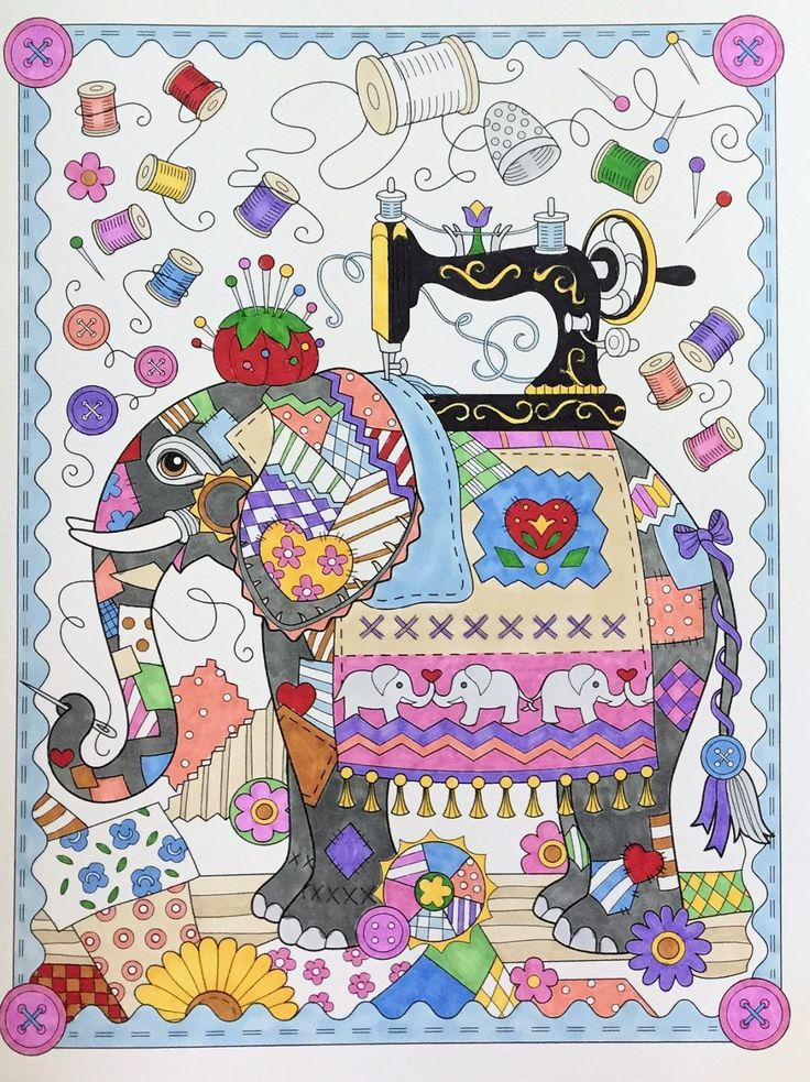 Amazon The Art Of Marjorie Sarnat Elegant Elephants Adult Coloring Book