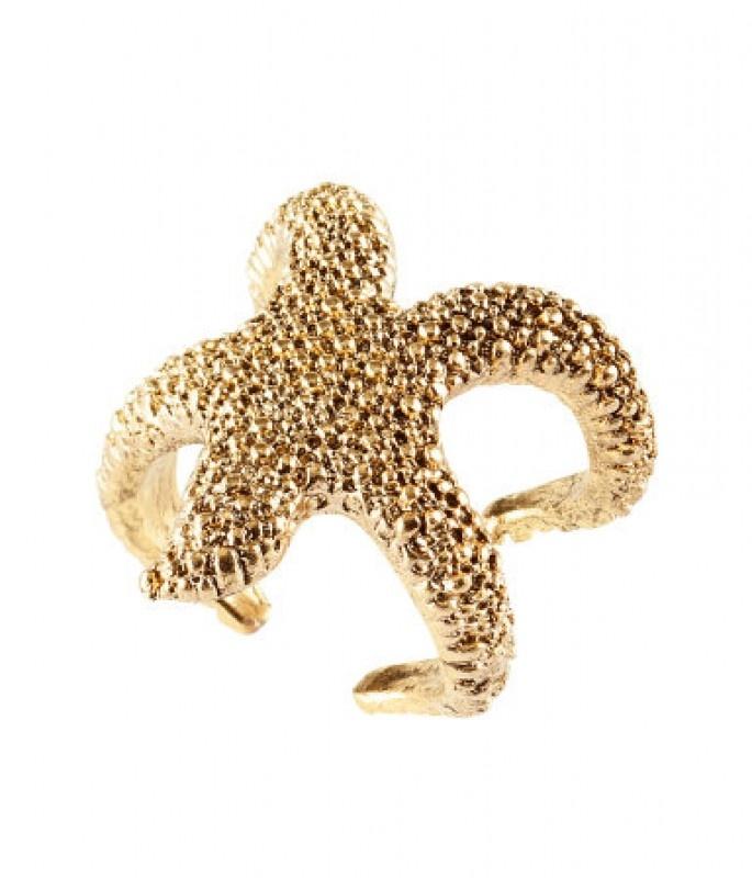 H&M arany színű tengericsillag gyűrű