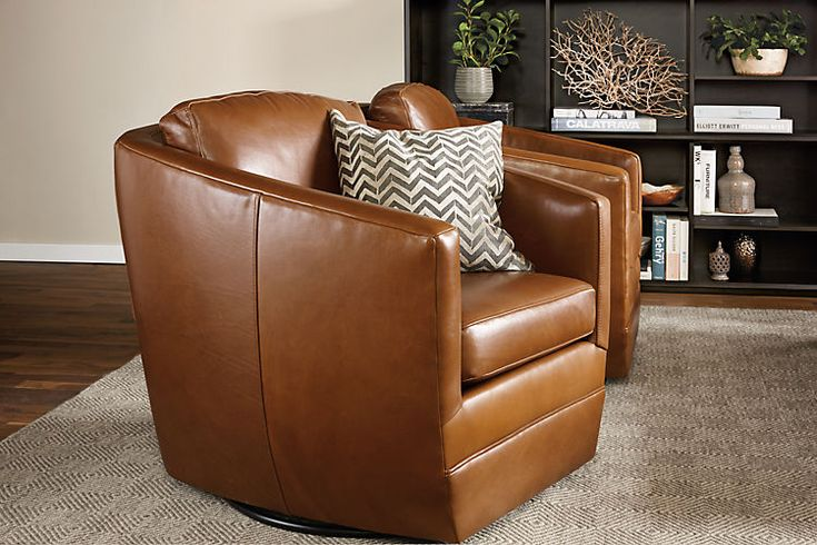 Ford leather swivel chair chairs living room board for 4 living room chairs