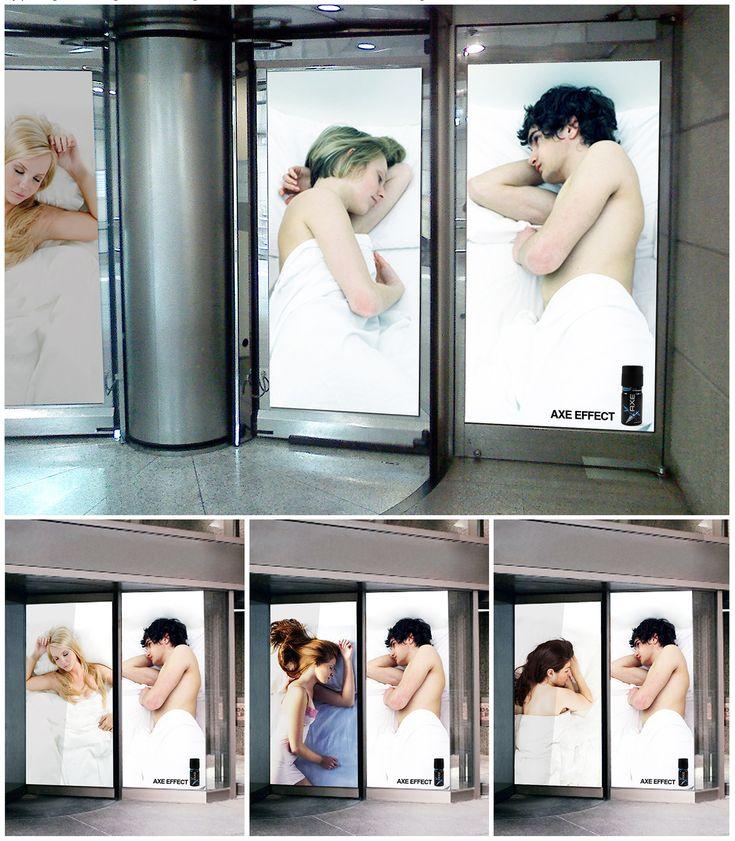 Axe revolving doors. #publicidad