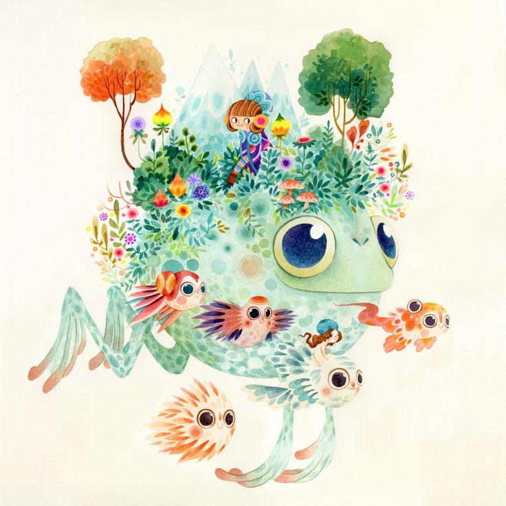 Fantastical Flora & Fauna - Aqua