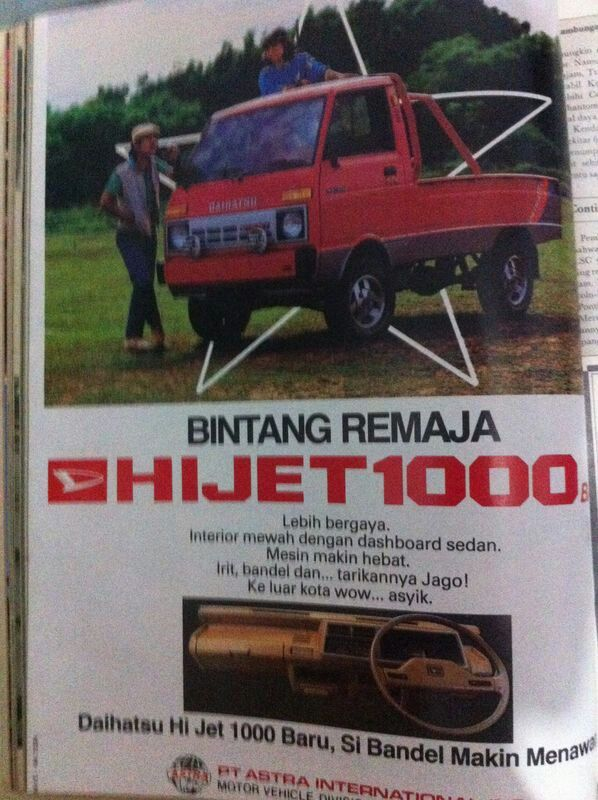 Daihatsu Hijet 1000..this pick up was a big star for slalom event