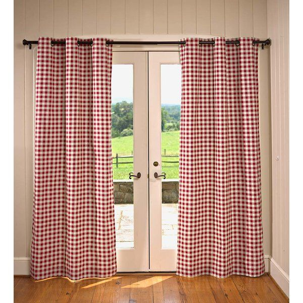Thermalogic Plaid Check Room Darkening Thermal Grommet Curtain