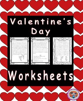 Valentines Day Worksheets Valentines Day Reading Comprehension and Punctuation WorksheetsThis download includes a history of Valentines day text without punctuation to allow children to work on their punctuating skills. There is also a short text and some reading comprehension questions on Saint Valentine.