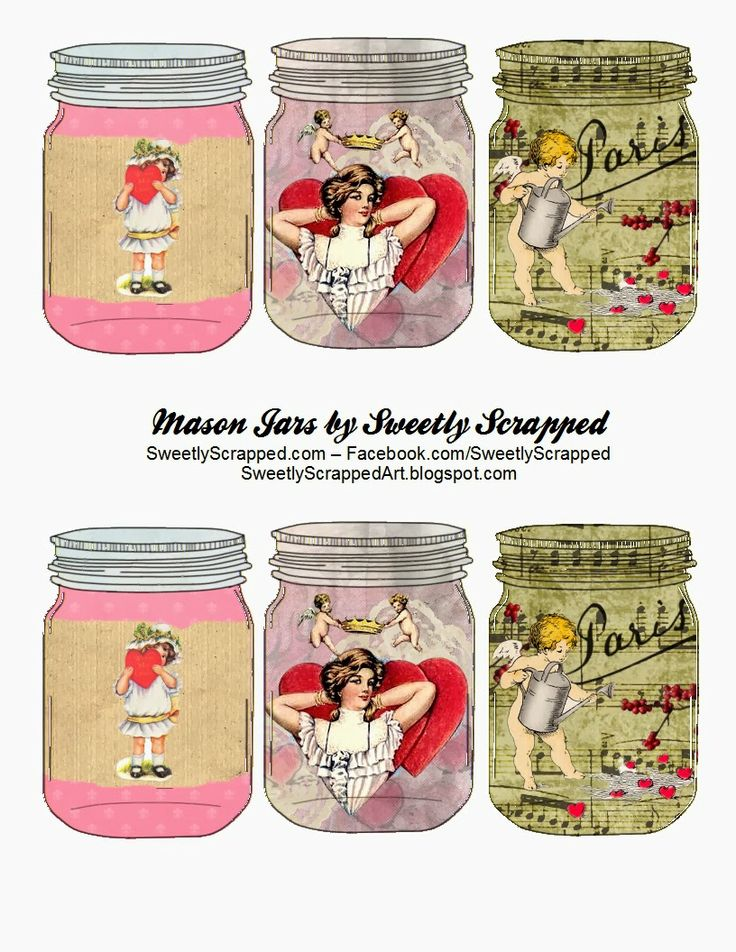 Free Printable Valentine's Day Mason Jars