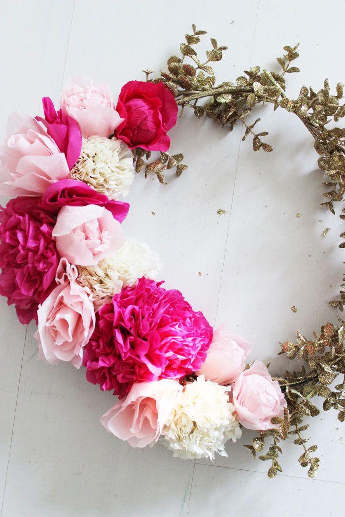 Poppytalk: DIY Paper Flower Wreath