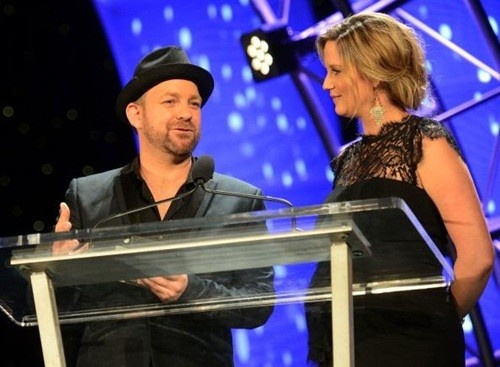 """Sugarland's Jennifer and Kristian accept the """"Performer Award"""" at the 34th Annual Georgia Music Hall of Fame Awards."""