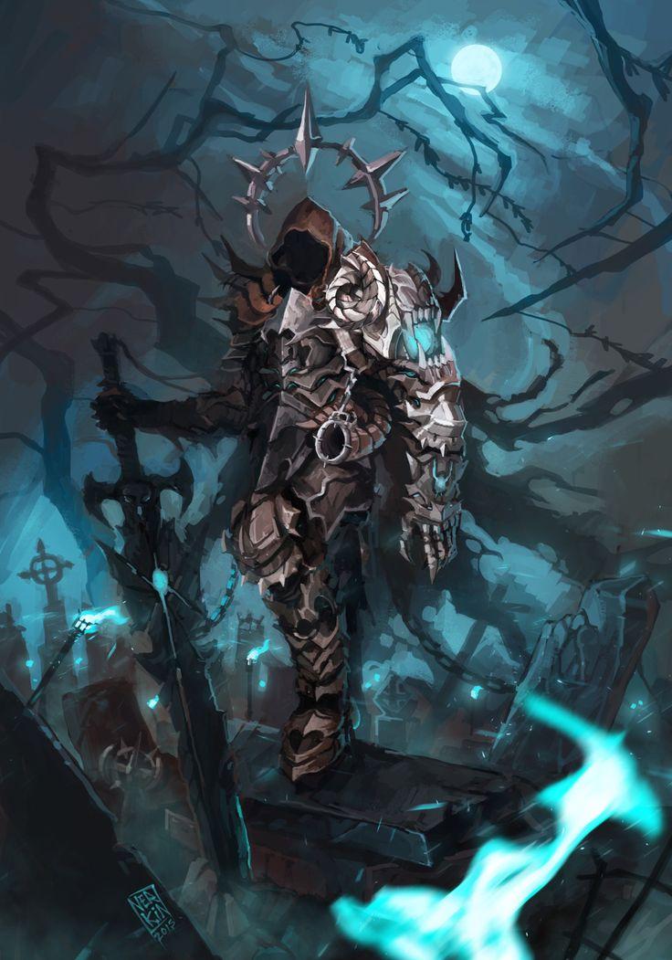 "Death Knight, Jesús Campos Jiménez ""Nerkin"" on ArtStation at https://www.artstation.com/artwork/xOJmY"