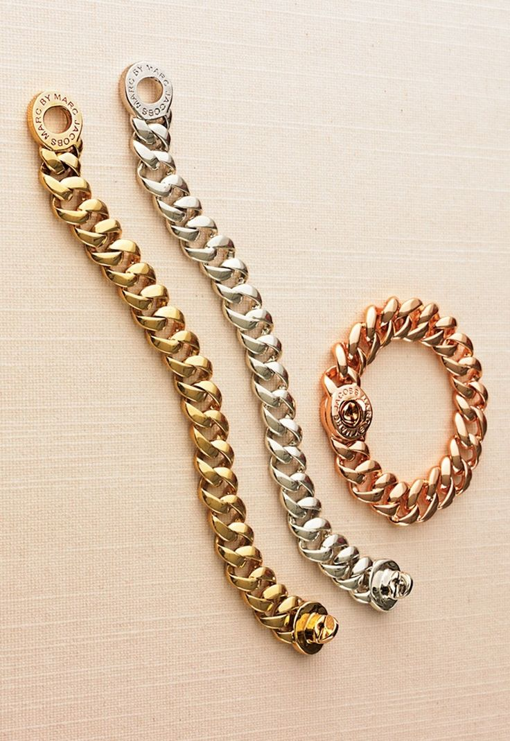 Crushing on all 3! Love these Marc Jacobs turnlock link bracelets.