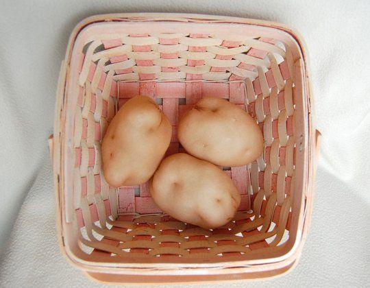 (Mostly) Sew-Free DIY Play Food- haha! pantyhose potatoes!