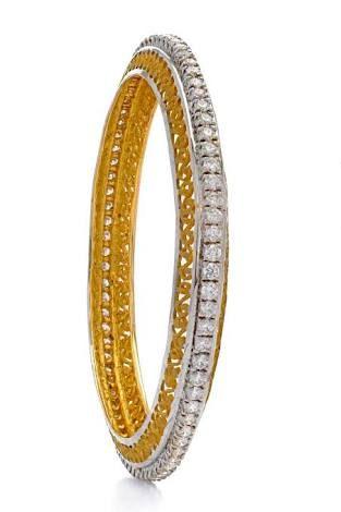 single line diamond bangles designs - Google Search