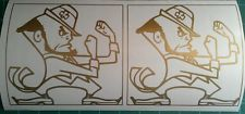 The Fighting Irishmen Gold CORNHOLE DECALS - 2 CORNHOLE DECALS
