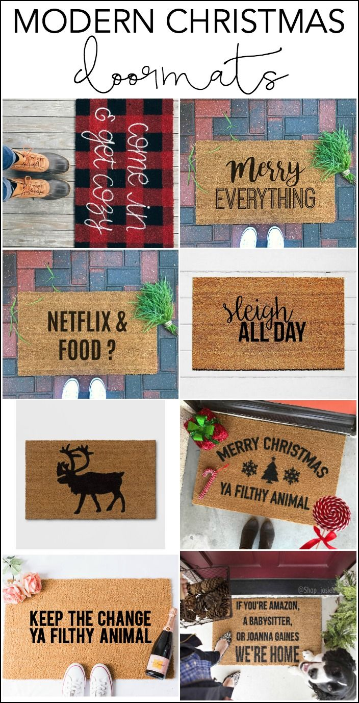 Modern Christmas Decor: How to Decorate for Christmas | My Breezy Room #modernchristmas #moderndecor #christmasdecor #doormat