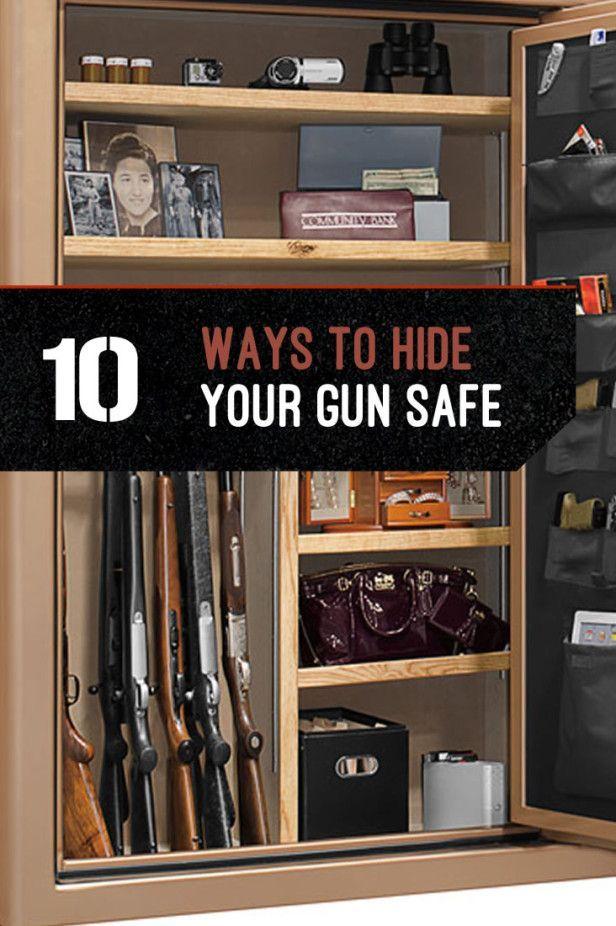 Gun Storage - How to Hide Your Gun Safe   List Of Safest DIY Cabinet For Firearms by Gun Carrier http://guncarrier.com/guns-storage-hide-your-gun-safe