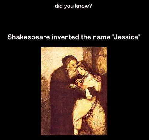 Did You Know?  Shakespeare invented my name!