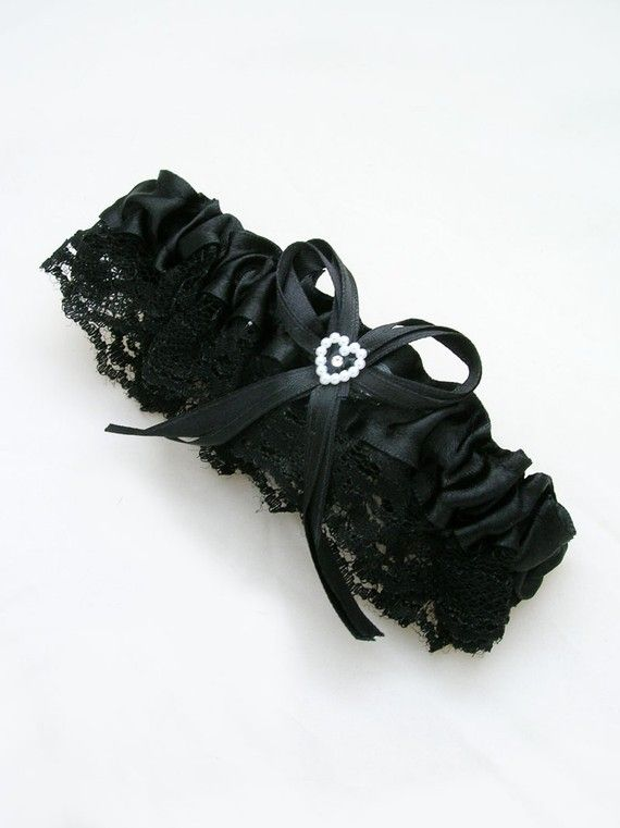 BLACK Lace Throwing Garter With Stretchy Elastic Band By Pegasus22 495