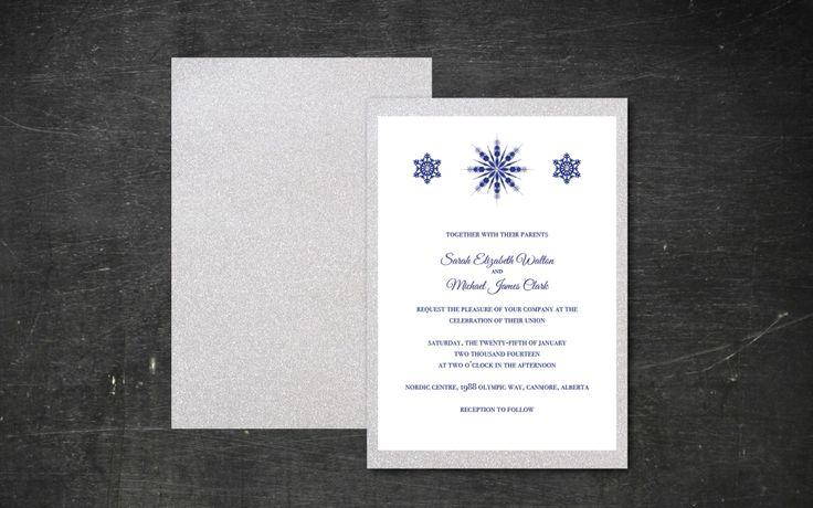 Winter wonderland wedding invitation from Bliss Invitations and Design. www.blissinvitationdesign.com