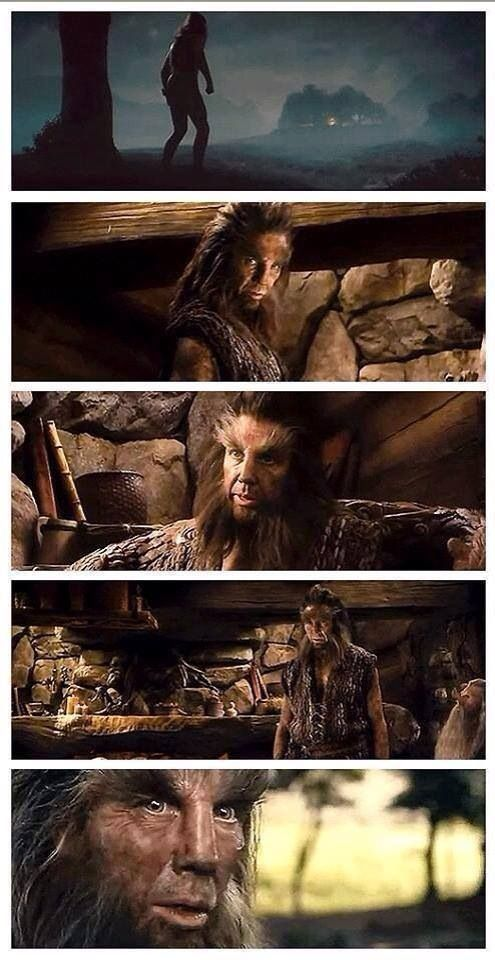 #Hobbit #Beorn, amazing makeup and costuming, wished Peter Jackson would have added the animals somehow serving the food like in the book..=)