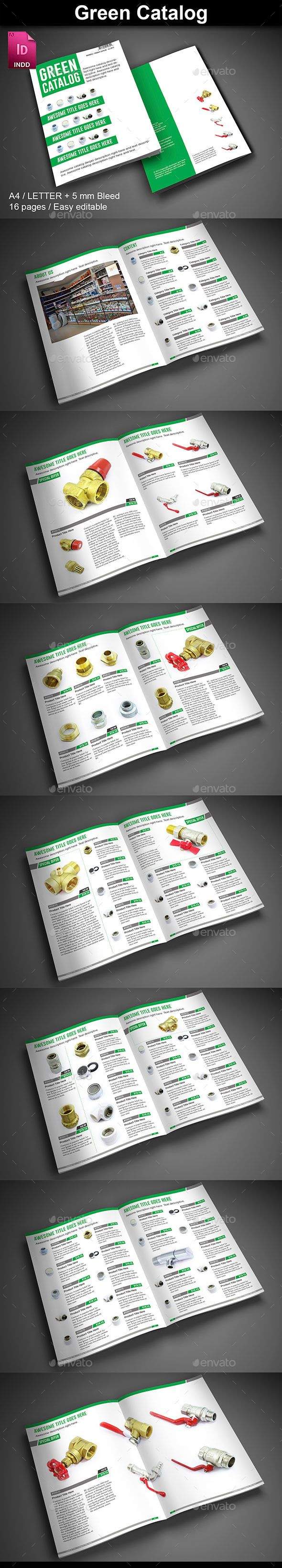 Green Catalog Template #design Download: http://graphicriver.net/item/green-catalog/12587206?ref=ksioks