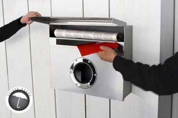 Buzón LETTERMAN XXL 550 ACERO INOXIDABLE de Radius Design, diseño de Michael Rösing - Tendenza Store