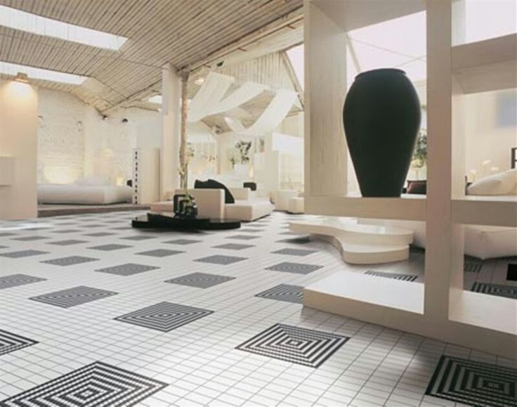 PIN 9: This tiles brings an illusion to the eyes. The contrast of black and white is very engaging and appealing.