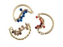 Half Cuff/Half Chain with semi-precious stones