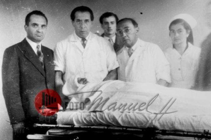 Grupo de médicos que auxiliaron si éxito a Jorge Eliecer Gaitán en la clínica nueva. Foto: Manuel H- Facebook
