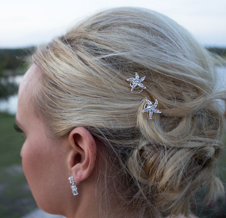 starfish wedding hair twists set of 6 starfish hair
