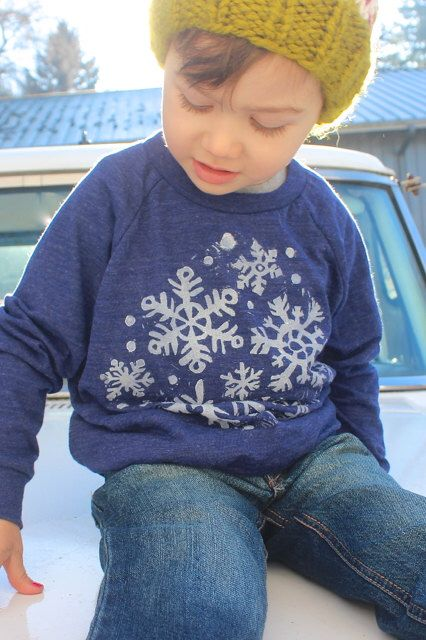 Snowflake sweater from Honey Bee's Knees https://www.etsy.com/listing/254170480/kids-christmas-outfit-snowflake-shirt