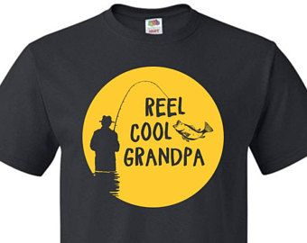 Fishing Shirt, Fishing Gift, Funny Fishing Shirts, Fishing Shirts, Fishing Apparel, Reel Cool Grandpa Shirt Grandpa T-Shirt fishing #OS396