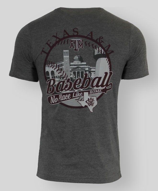 """No Place Like Home"" Aggie Baseball T-shirt #AggieGifts #AggieStyle"