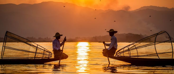 Inle Lake , is a freshwater lake located in the Nyaungshwe Township of Taunggyi District of Shan State, part of Shan Hills in Myanmar (Burma). It is the second largest lake in Myanmar with an estimated surface area of 44.9 square miles (116 km2), and one of the highest at an elevation of 2,900 feet (880 m). During the dry season, the average water depth is 7 feet (2.1 m), with the deepest point being 12 feet (3.7 m), but during the rainy season this can increase by 5 feet (1.5 m).