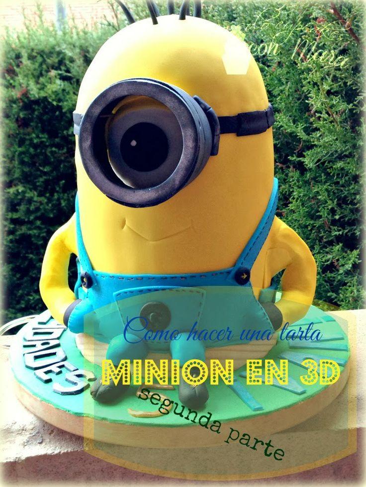 No Solo Cupcakes Con Mara Tarta Minion 3d Paso A