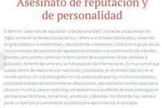 Luego de usarte el #narcisista o #sociopata tratará de destruir tu reputación mintiendo y esparciendo rumores falsos. #abuso #acosolaboral #mobbing https://sobreviviendoapsicopatasynarcisistas.wordpress.com/2015/02/17/asesinato-de-reputacion-y-de-personalidad/