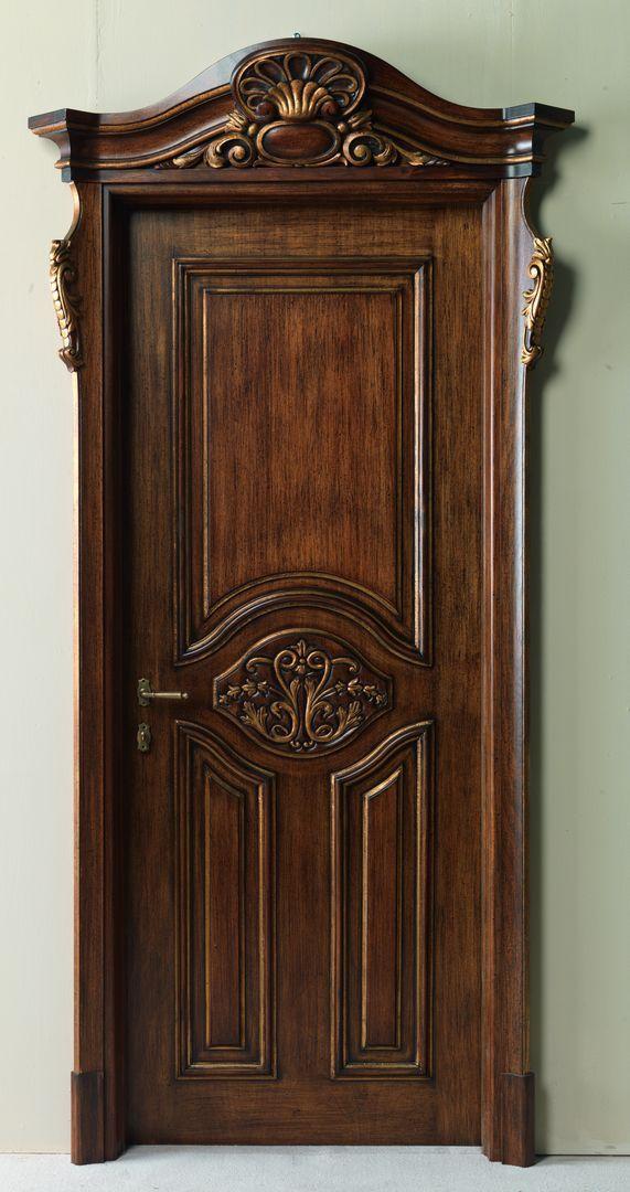PALAZZO D'INVERNO 5016/QQ/INT. antique dark gold walnut Palazzo d'Inverno© Classic Wood Interior Doors | Italian Luxury Interior Doors | New Design Porte Emotions