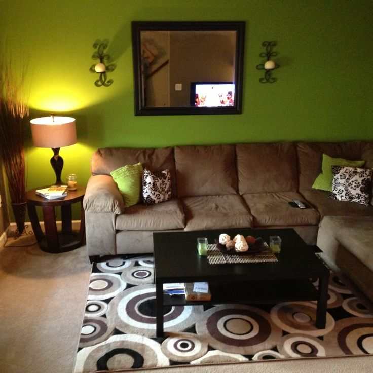 Green And Brown Decor Ideas For Living Room