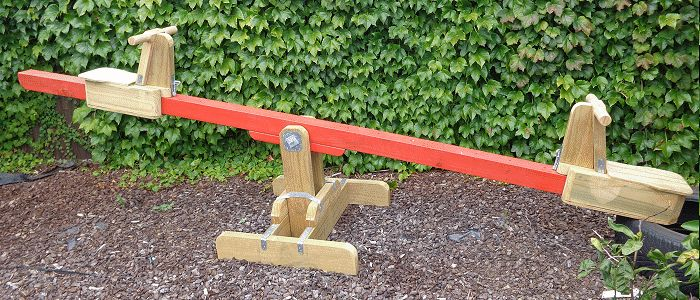 seesaw with sliding seat - finished
