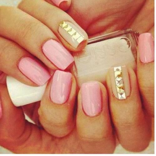 pink gold & nude