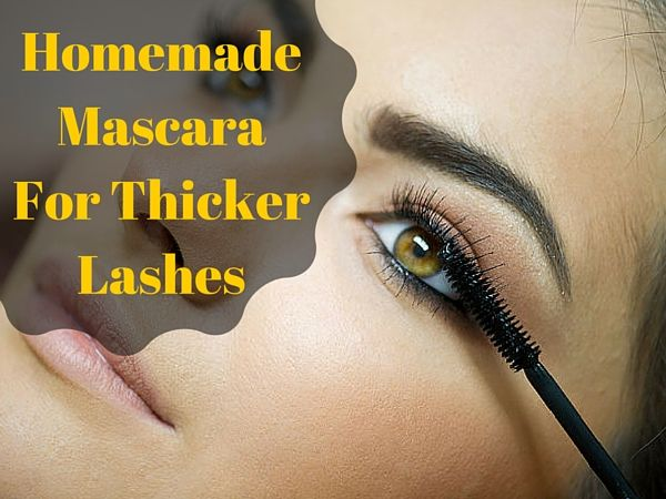 Make your own chemical free mascara at home!