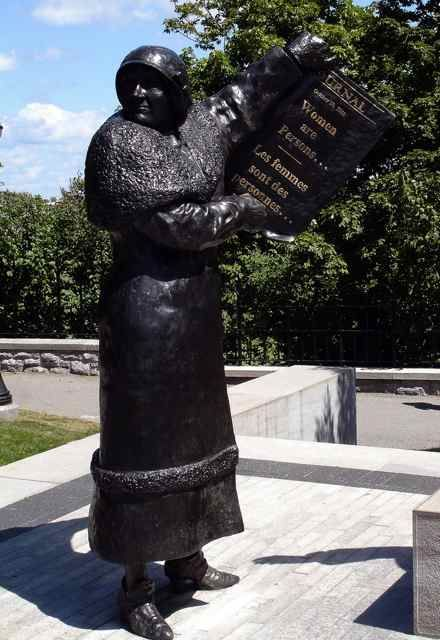 """Part of the """"Women are Persons"""" Statue (Image: daryl_mitchell)"""